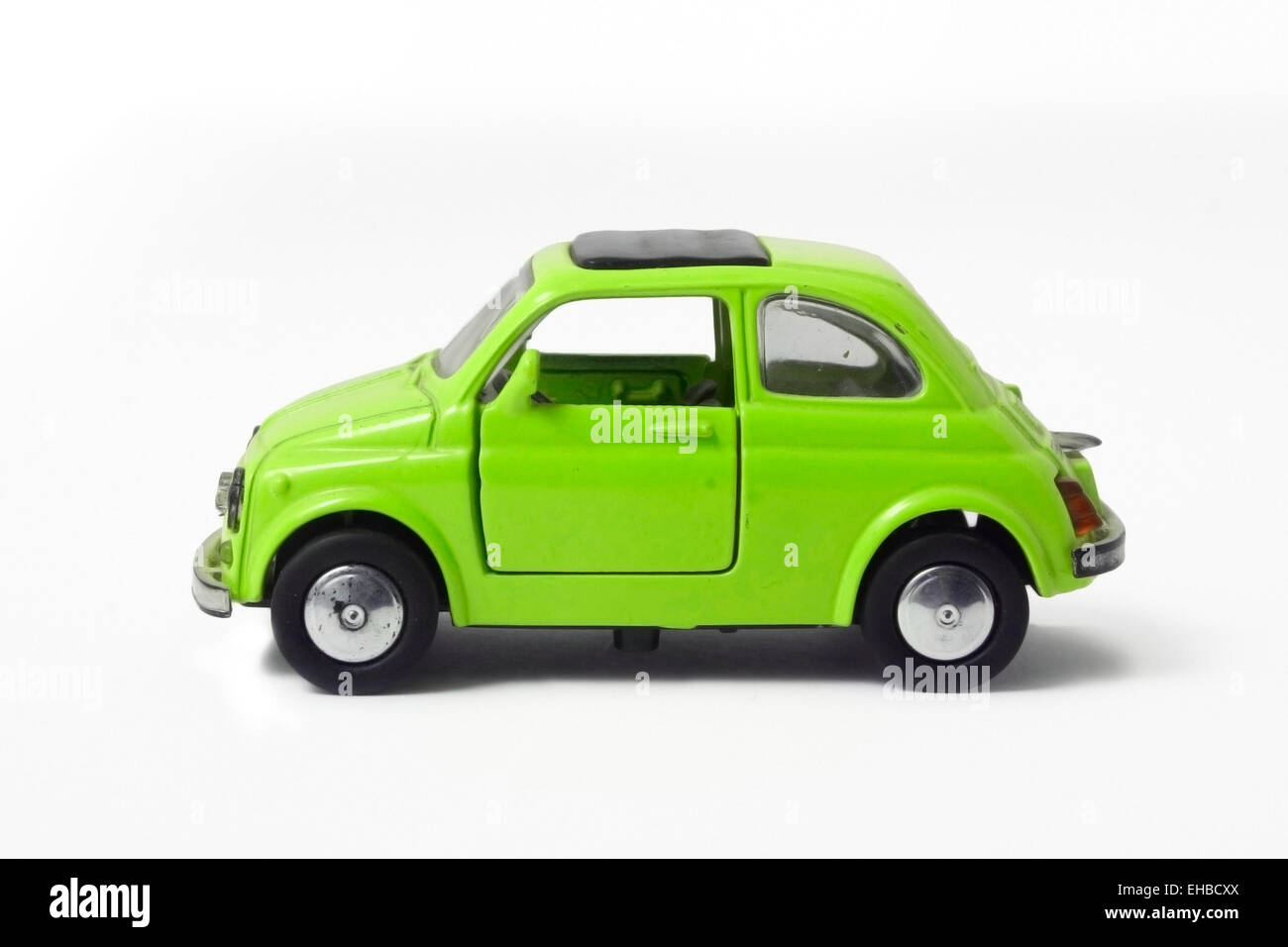 a little model of an old italian car - Stock Image