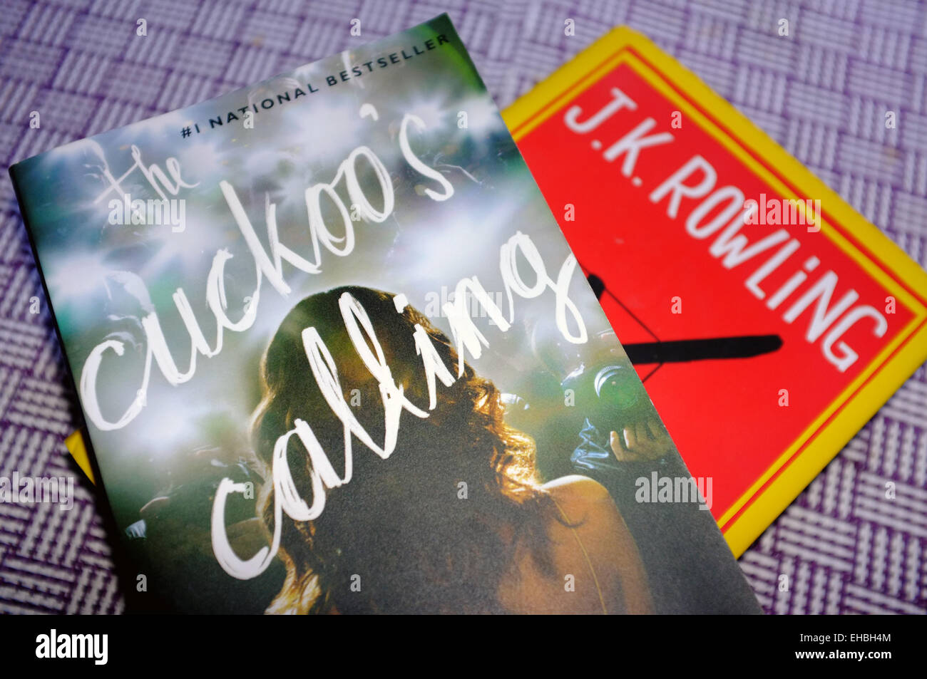 The Cuckoo's Calling and The Casual Vacancy, both books by the author JK Rowling. - Stock Image