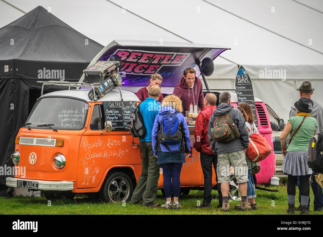 A converted VW camper van