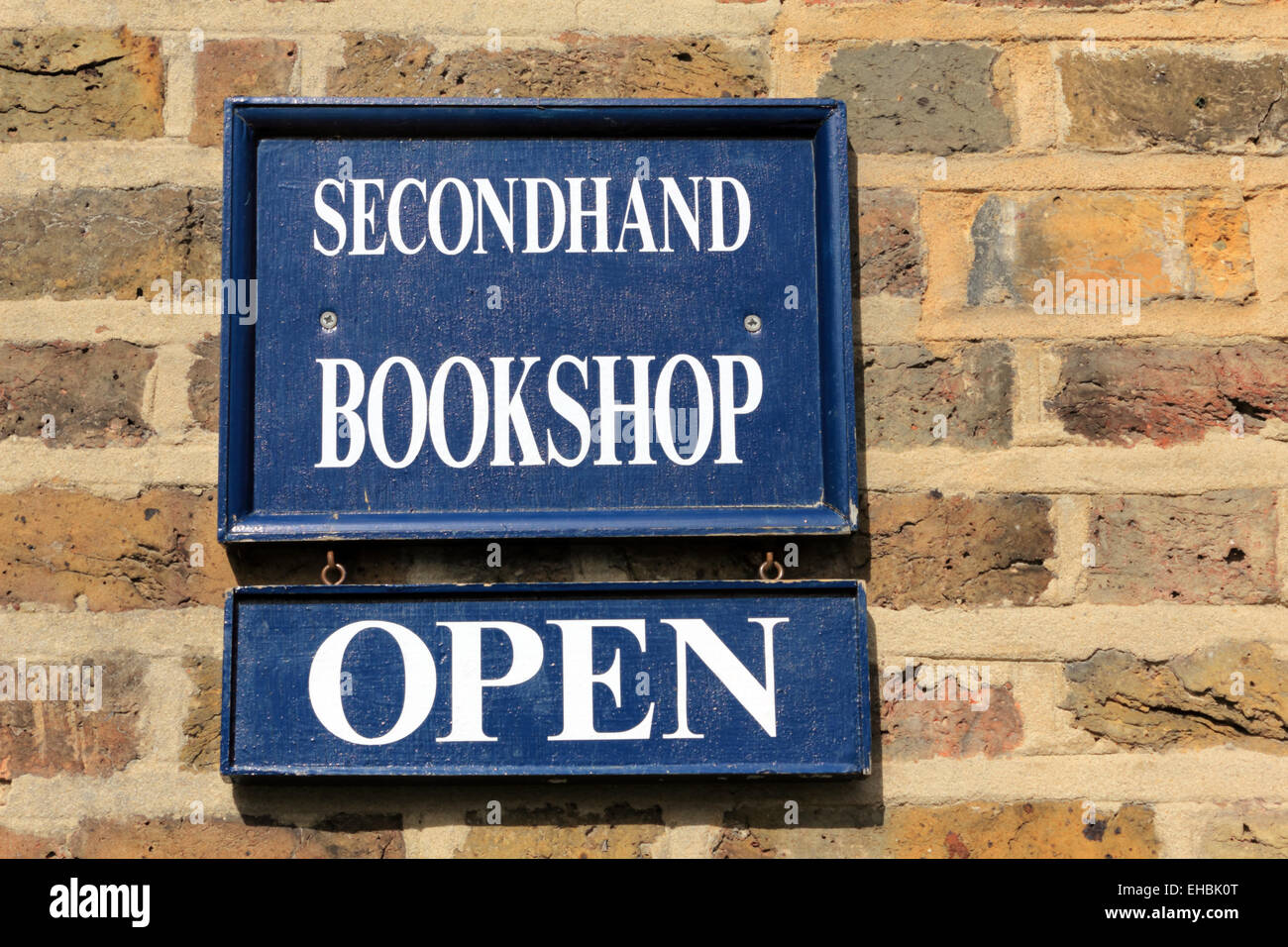 Secondhand Bookshop Open - Stock Image