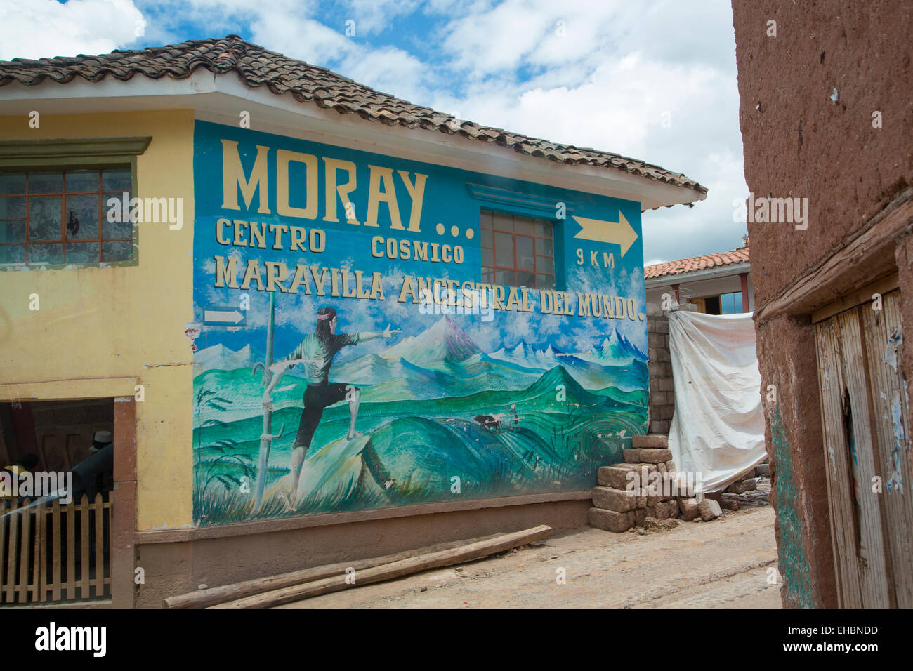 Moray town, Sacred Valley, Cusco Region, Urubamba Province, Machupicchu District, Peru - Stock Image