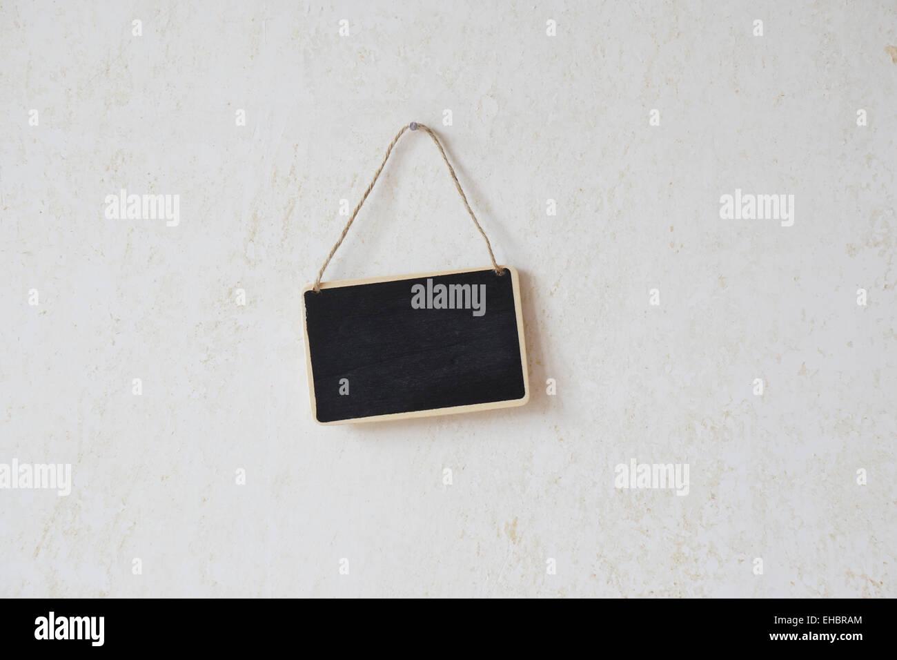 blank chalkboard sign - Stock Image