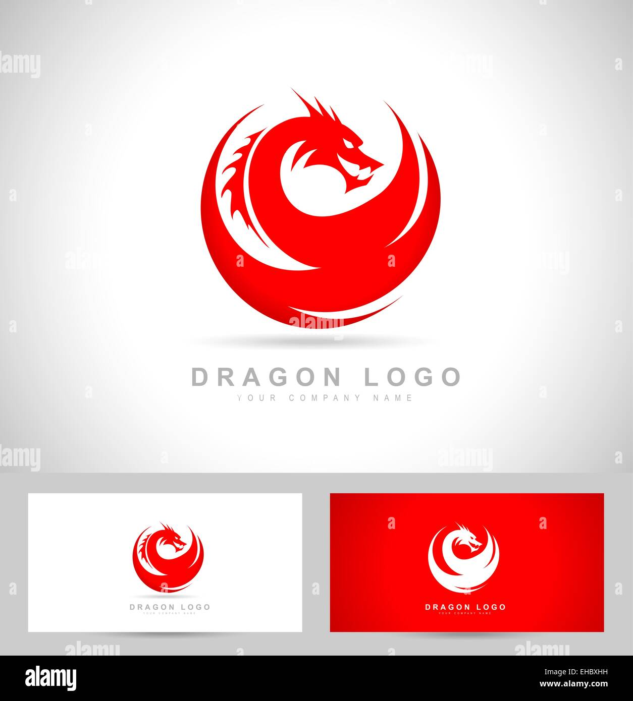 Dragon logo vector with red colors and business card template stock dragon logo vector with red colors and business card template colourmoves