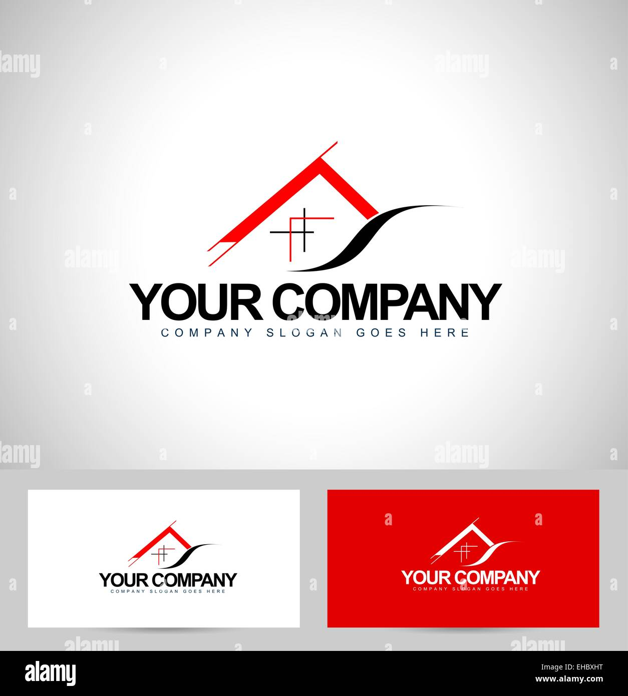 House Logo Design. Architecture Concept with business card Stock ...