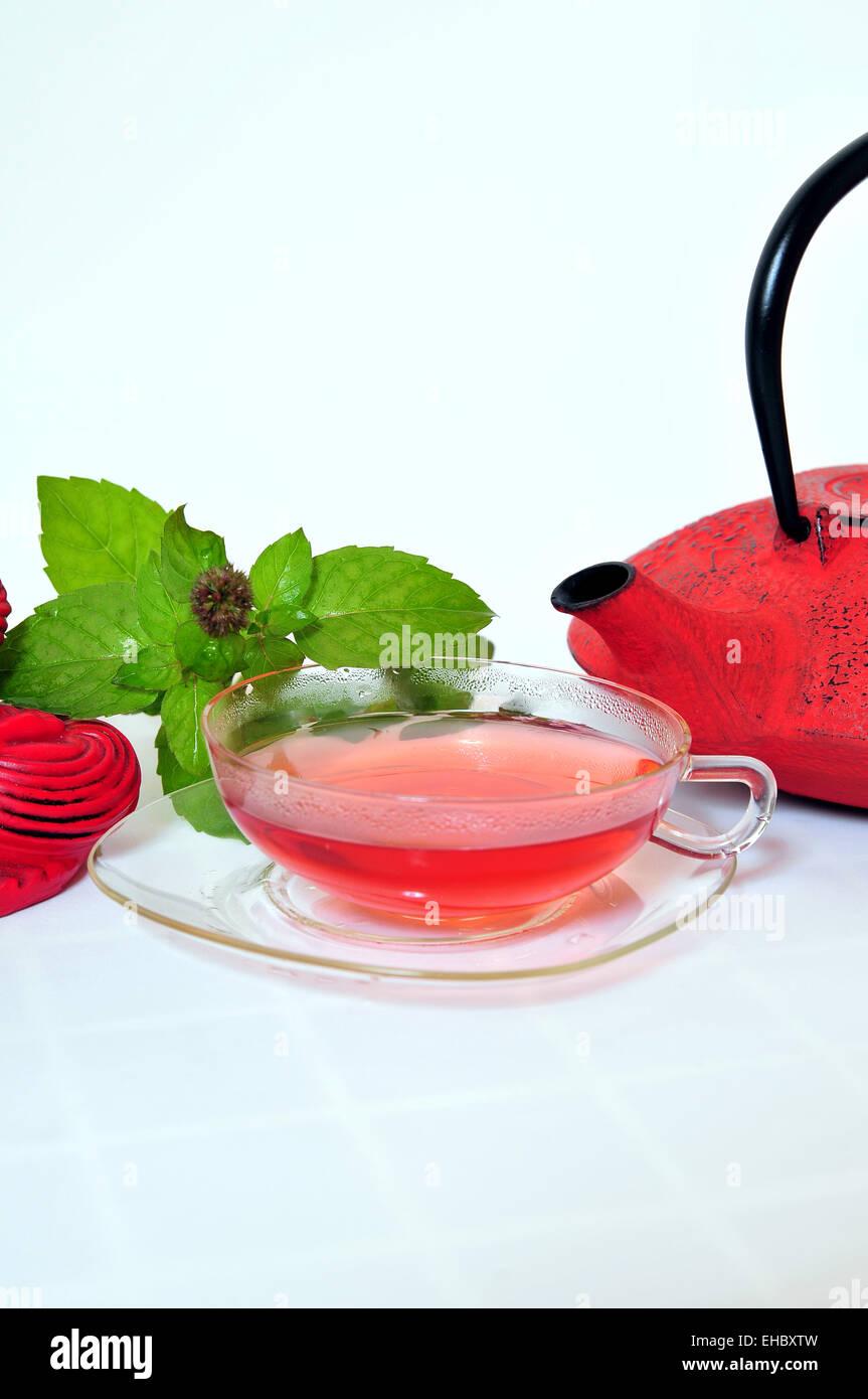 Tea and teapot Stock Photo