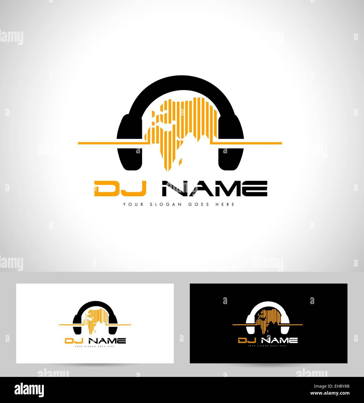 Voorkeur Dj Logo Design. Creative vector logo design with headphones and  PE34