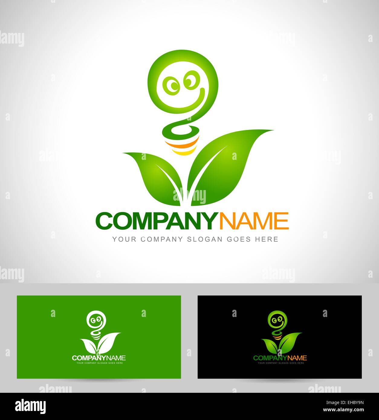 Green energy logo concept renewable energy logo design with green energy logo concept renewable energy logo design with business card template reheart