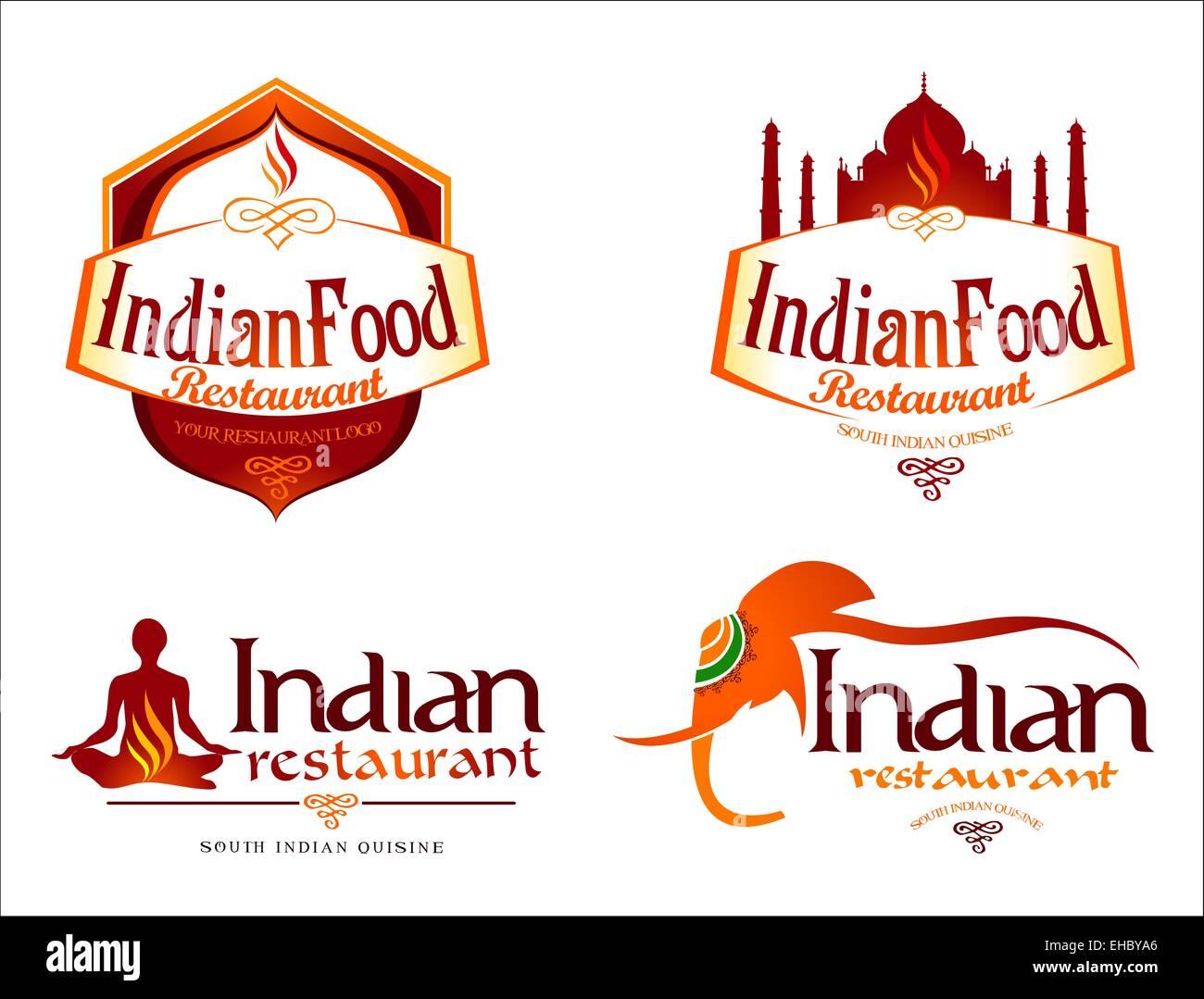 Indian Food Logo Creative Restaurant Logo Vector Template Indian Stock Photo Alamy