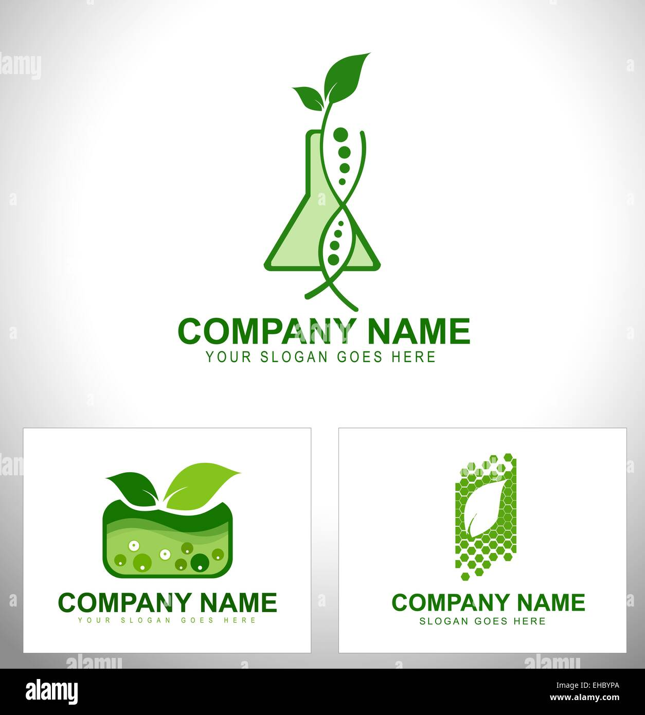 Genetically Modified Plants. Genetic engineering design concepts - Stock Image