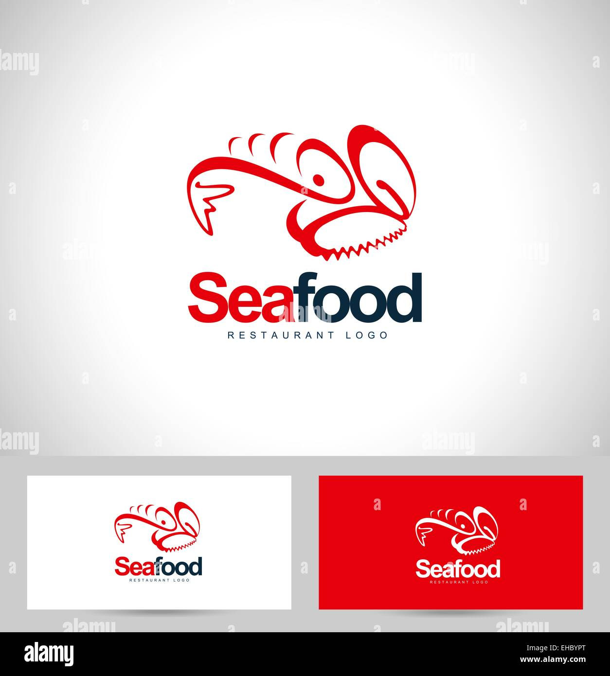 Seafood Restaurant Logo Design Creative Logo Concept With Business Stock Photo Alamy