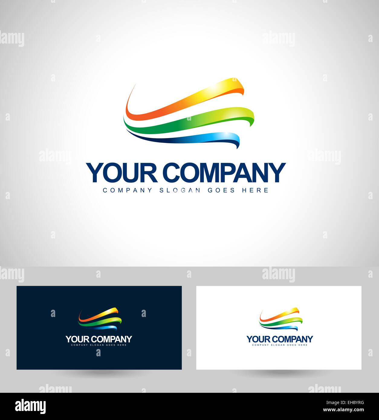 Business logo design colorful swashes vector creative corporate business logo design colorful swashes vector creative corporate logo with business card template cheaphphosting Image collections
