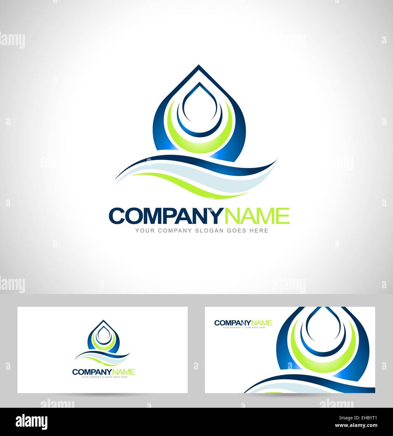 Water drop logo design creative water drop vector with business water drop logo design creative water drop vector with business card template colourmoves