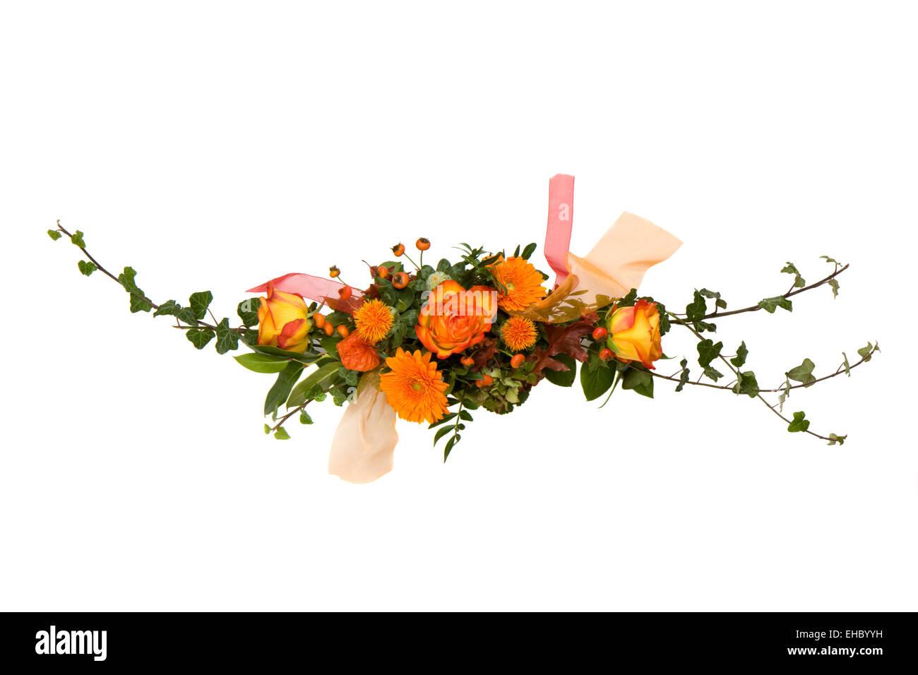 schönen Blumenstrauß isoliert auf Weiß Stock Photo