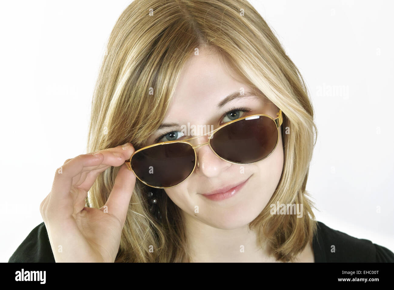 Pert look about the sunglasses - Stock Image