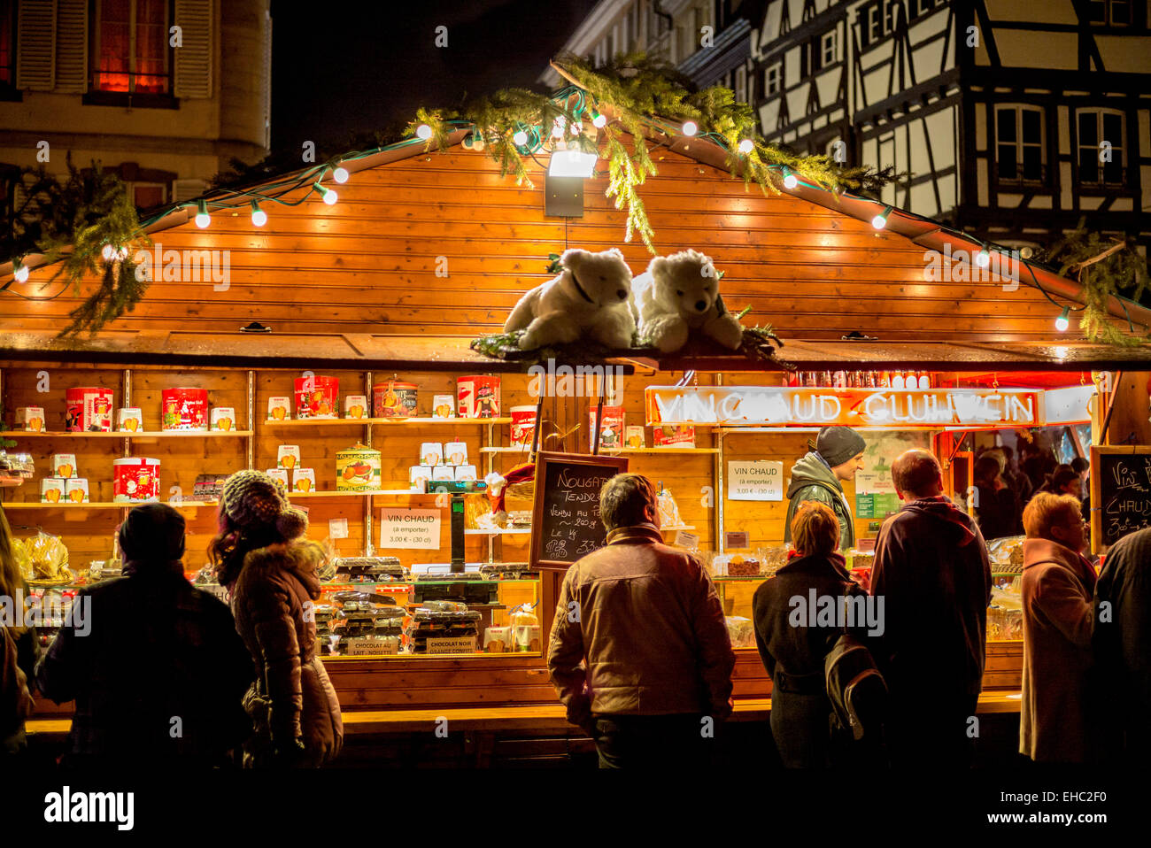 Mulled Wine Christmas Market.Mulled Wine Stall At Christmas Market Strasbourg Alsace