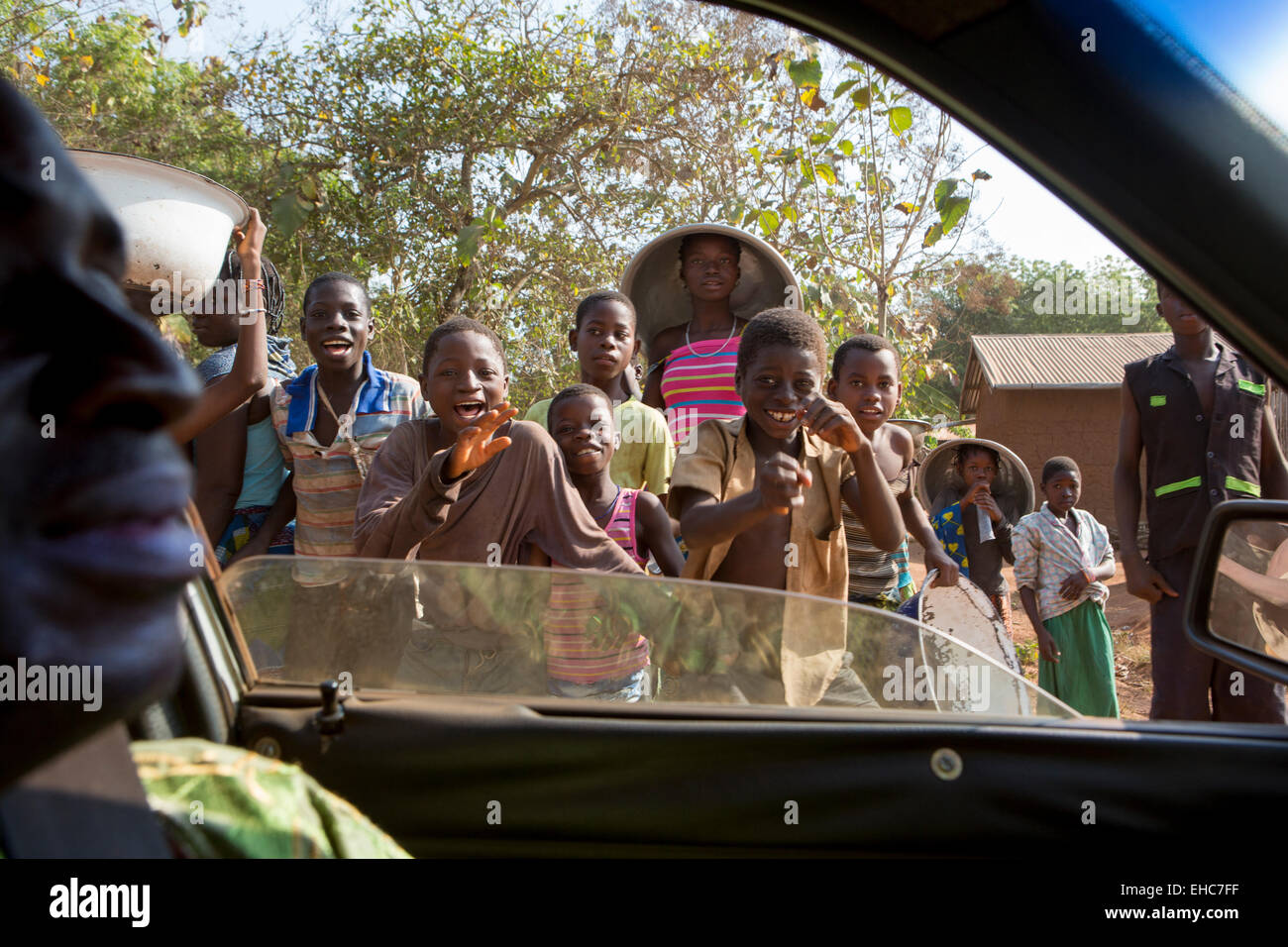 TOGO, 10th December 2012; Children on their way to school.   Photo by Mike Goldwater Stock Photo