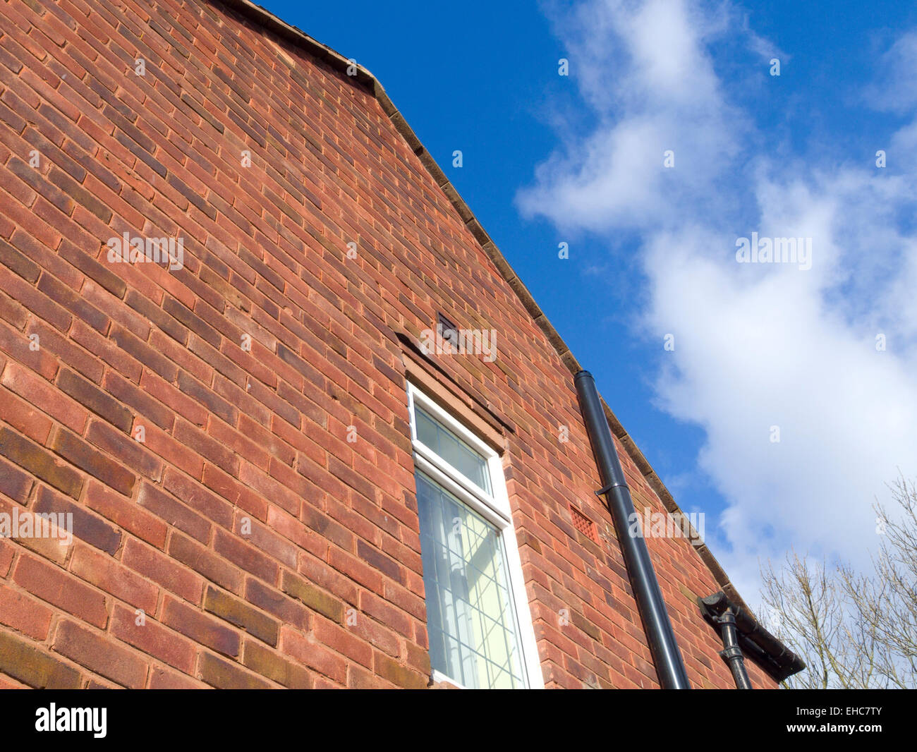 Gable End of a House With External Soil Pipe, UK PROPERTY RELEASED - Stock Image