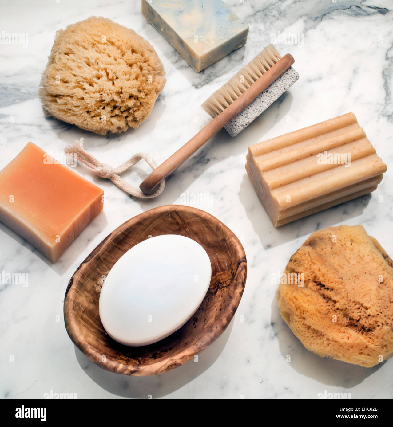 bath products - Stock Image