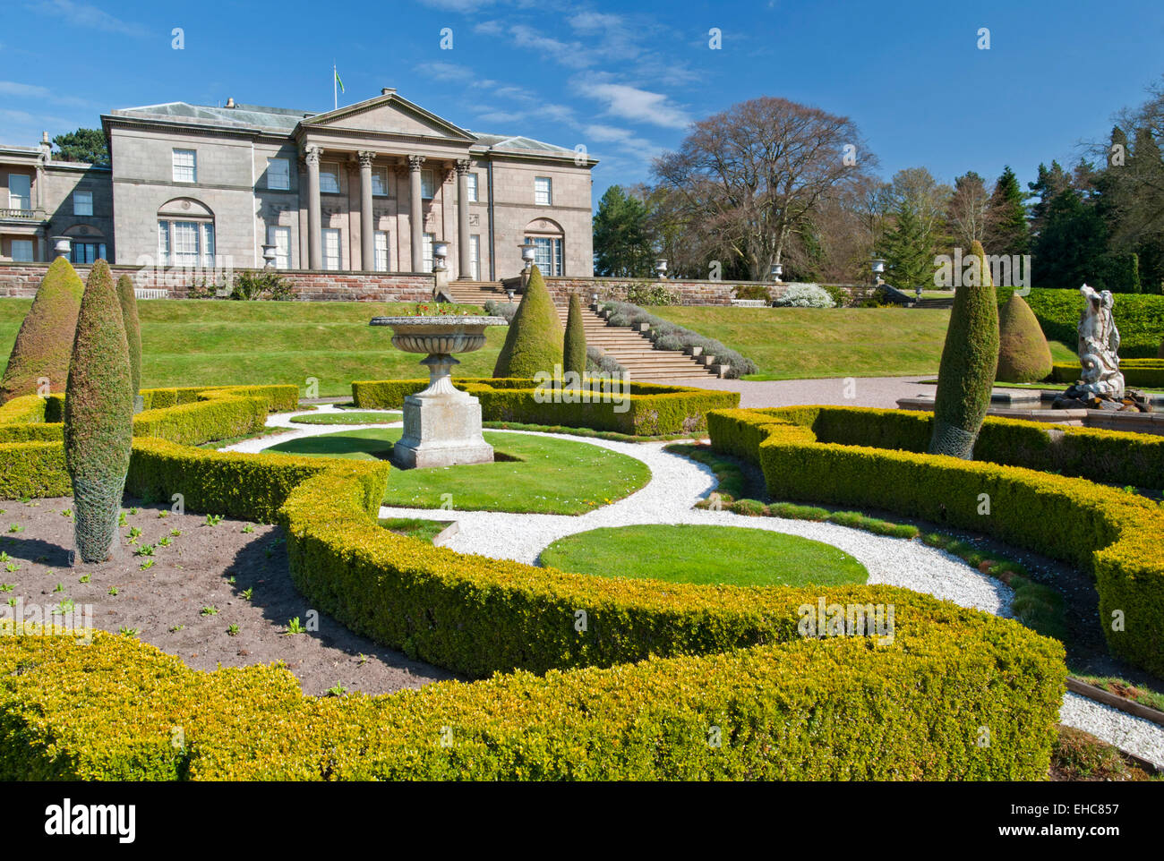 The Italian Garden, Tatton Hall, Near Knutsford, Cheshire, England, UK - Stock Image