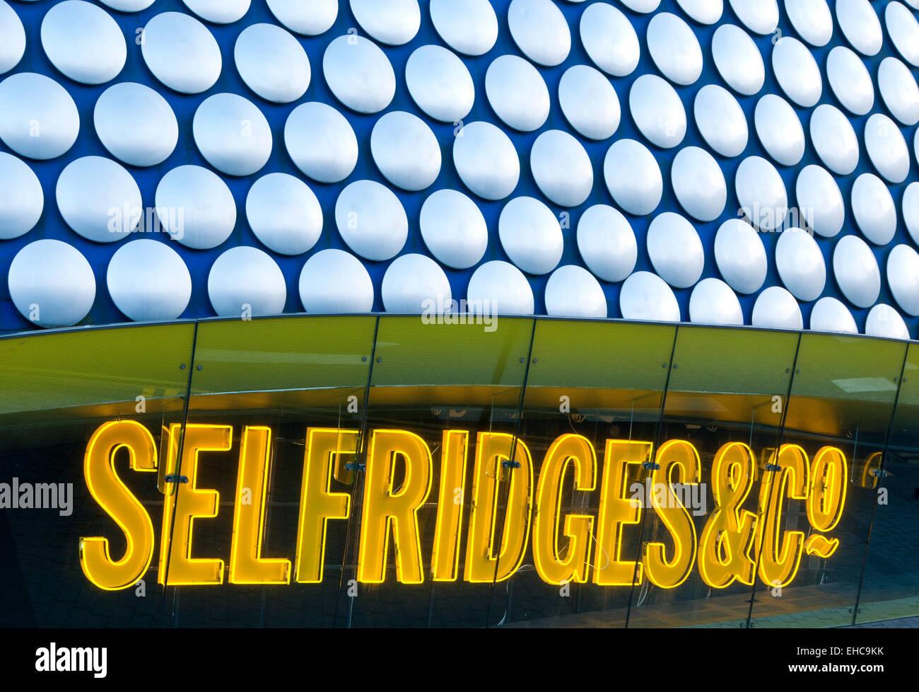 Exterior of Selfridges Department Store, Birmingham City Centre, West Midlands, England, UK Stock Photo