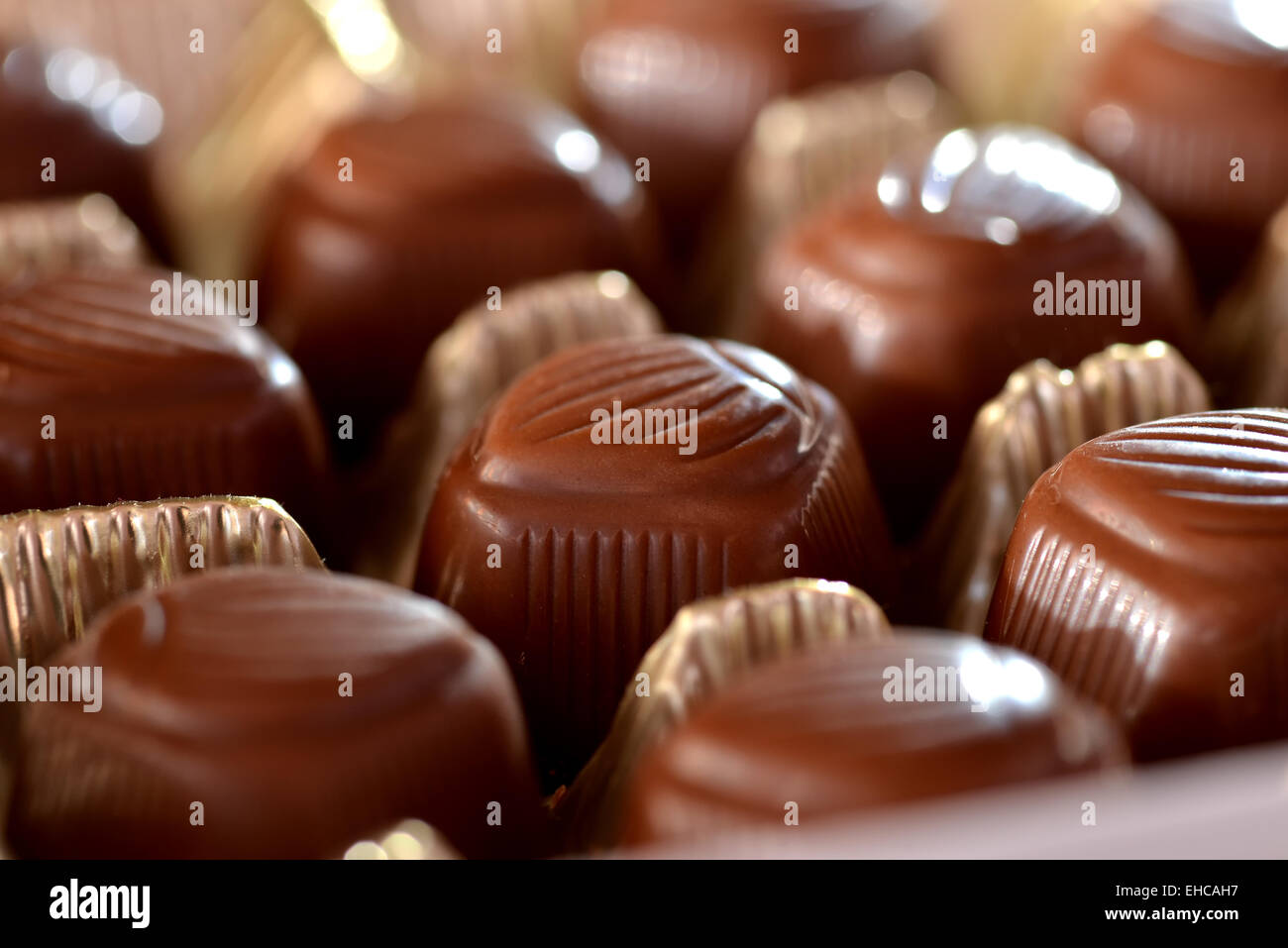 Boxed Chocolates Stock Photo Alamy
