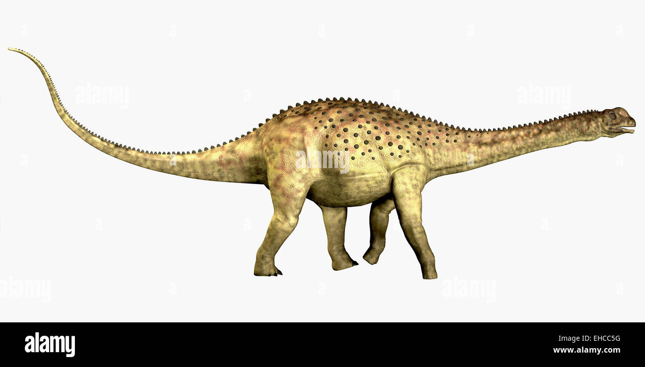 Uberabatitan was a herbivorous sauropod dinosaur that lived in the Cretaceous Period of Brazil. - Stock Image