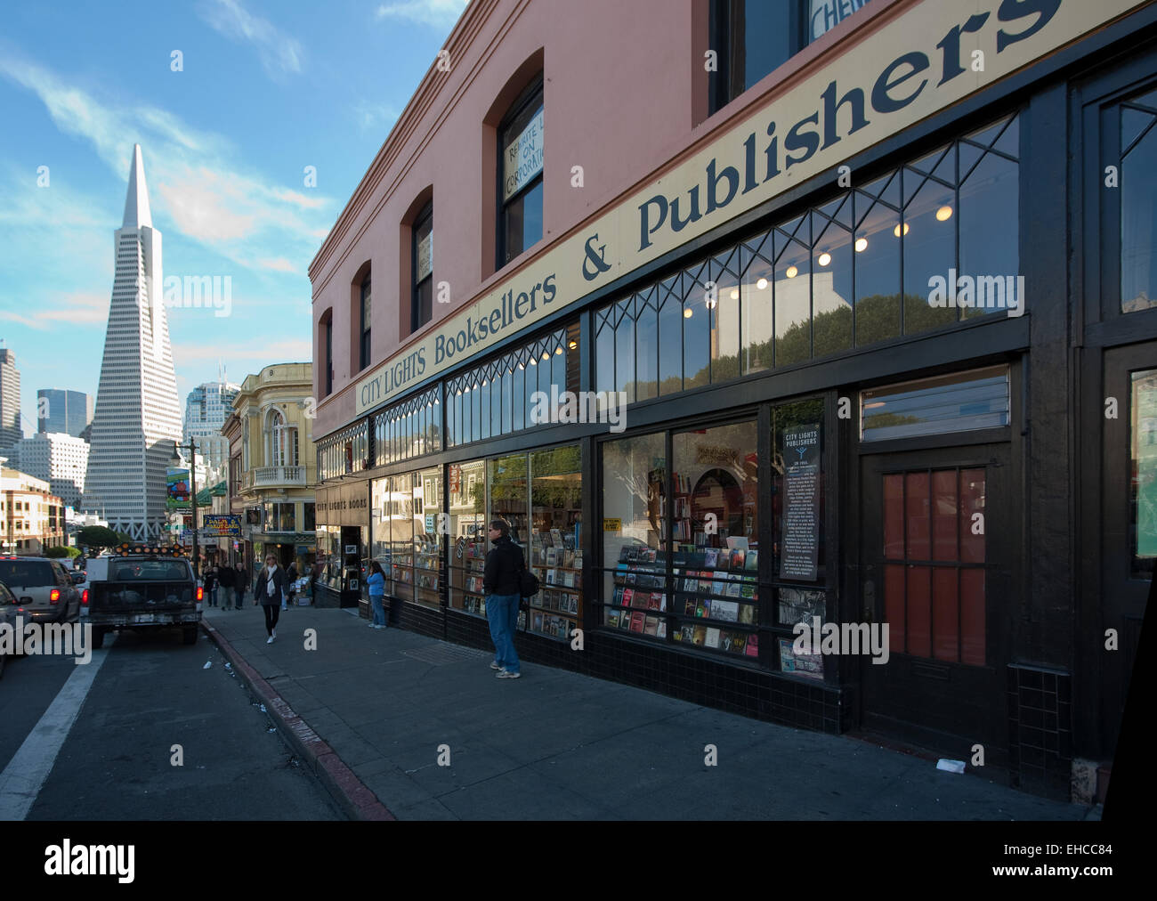 Northern Lights Booksellers, landmark book store in the North Beach neighborhood of San Francisco. - Stock Image
