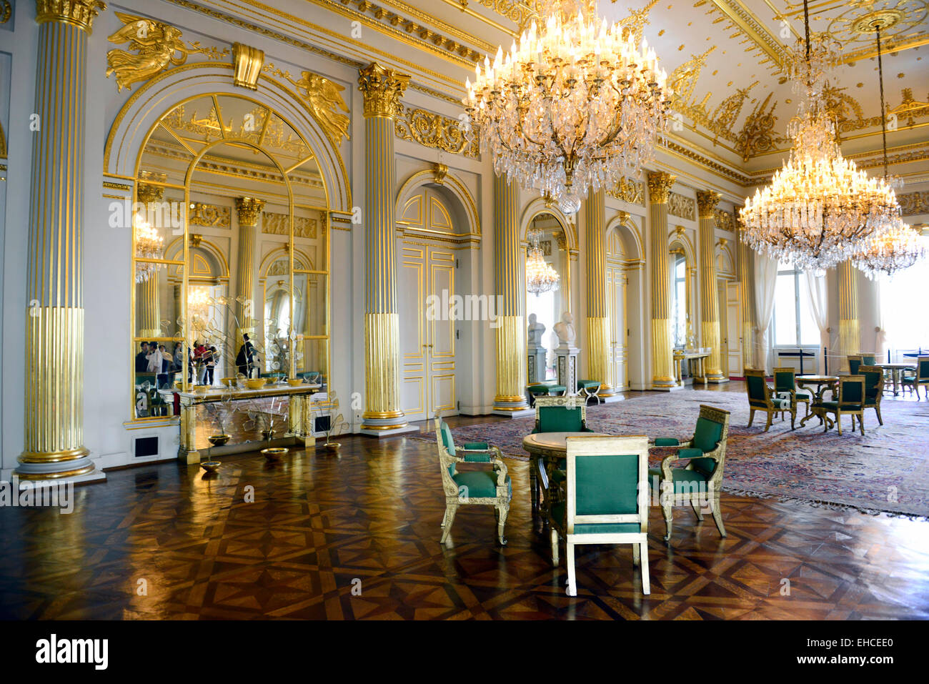 The Beautiful Interior Halls And Rooms Of The Royal Palace In Brussels.    Stock Image