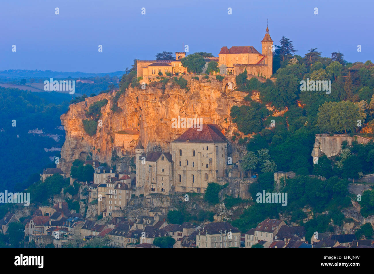 Rocamadour, Midi-Pyrenees Region, Lot Department, France, Europe Stock Photo