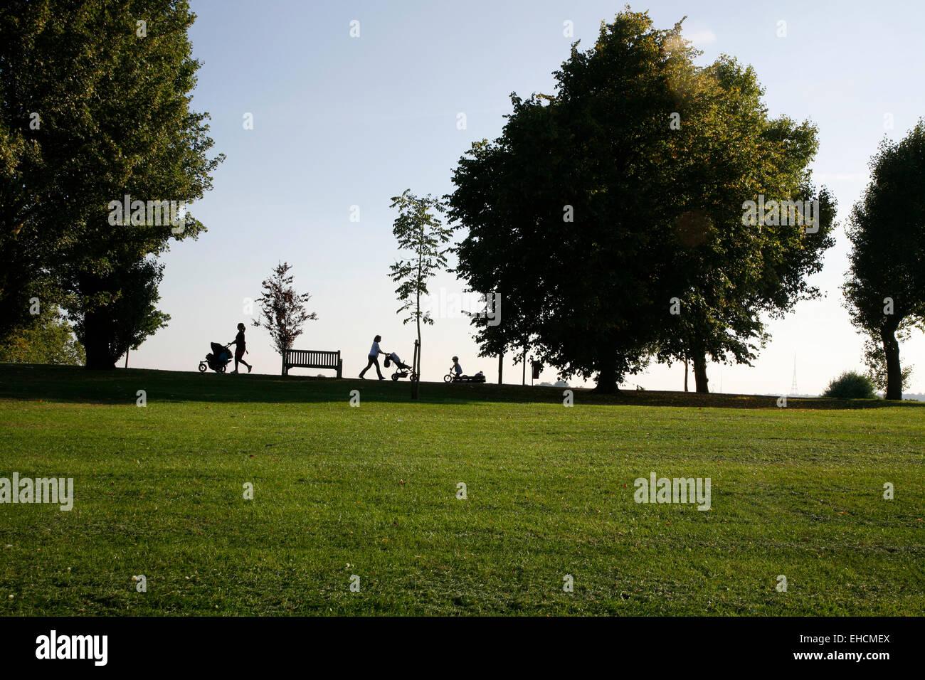 Hilly Fields, Brockley, London, UK. - Stock Image