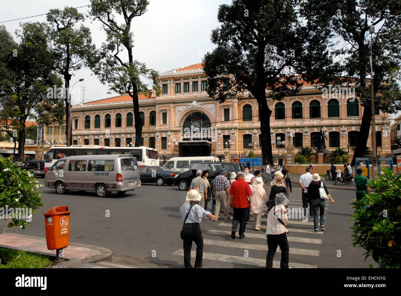 Historisches Postamt,  Saigon postoffice - Stock Image