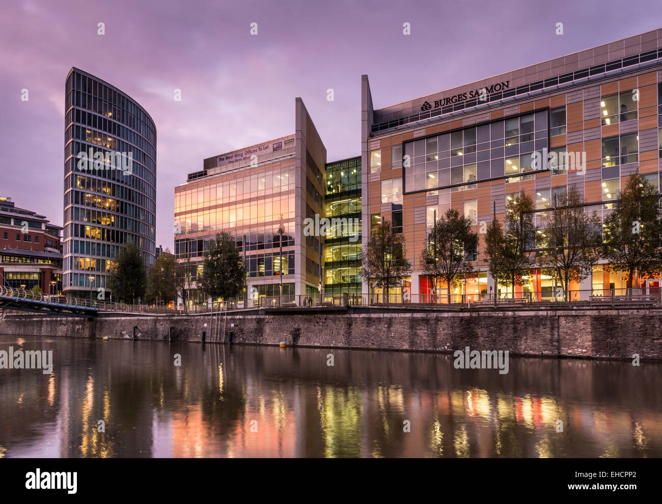 New development of apartments and offices in Temple Quay, Bristol, UK - Stock Image