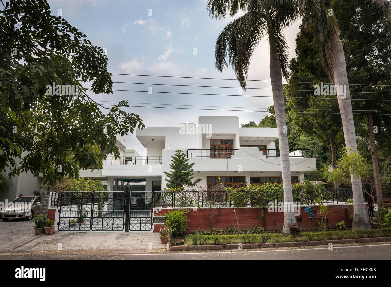 Spacious modernist house in Chandigarh, Punjab, India - Stock Image