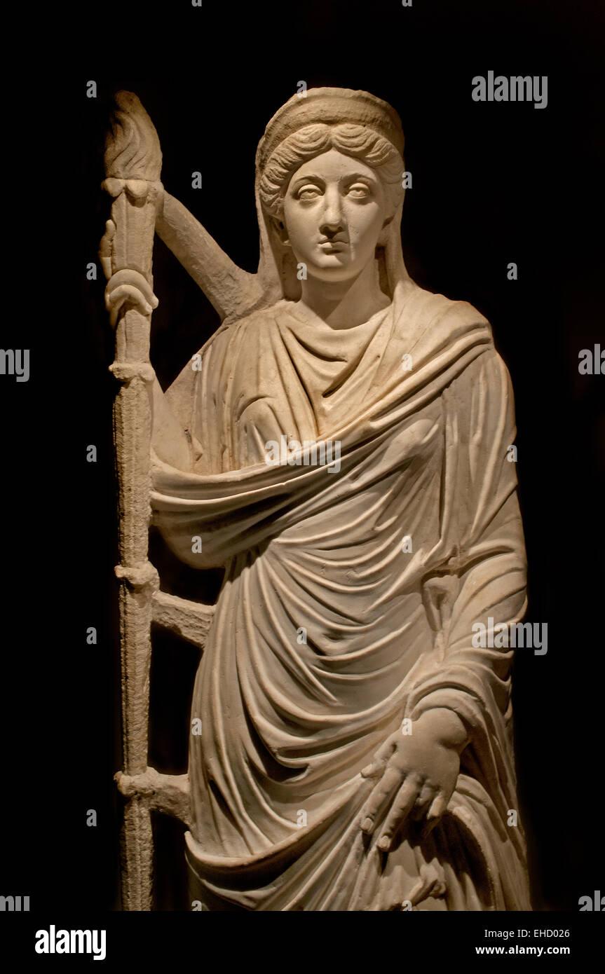 Lucilla, wife of Emperor Lucius Verus  represented as goddesses. 150-200 AD material: marble found at: Bulla Regia Stock Photo