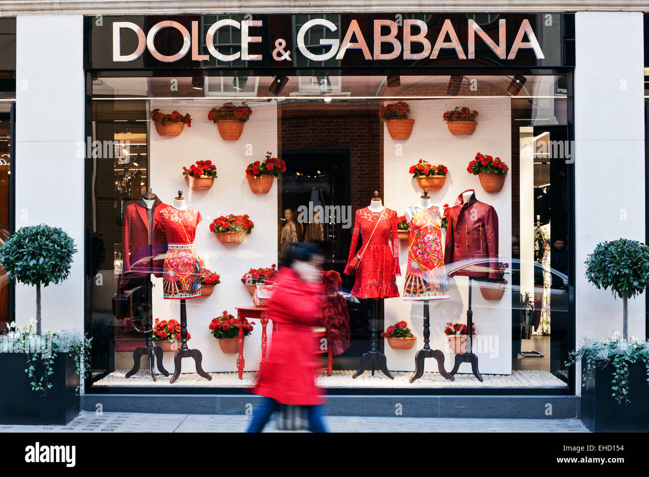 Dolce and Gabbana store window display in Mayfair, London. - Stock Image