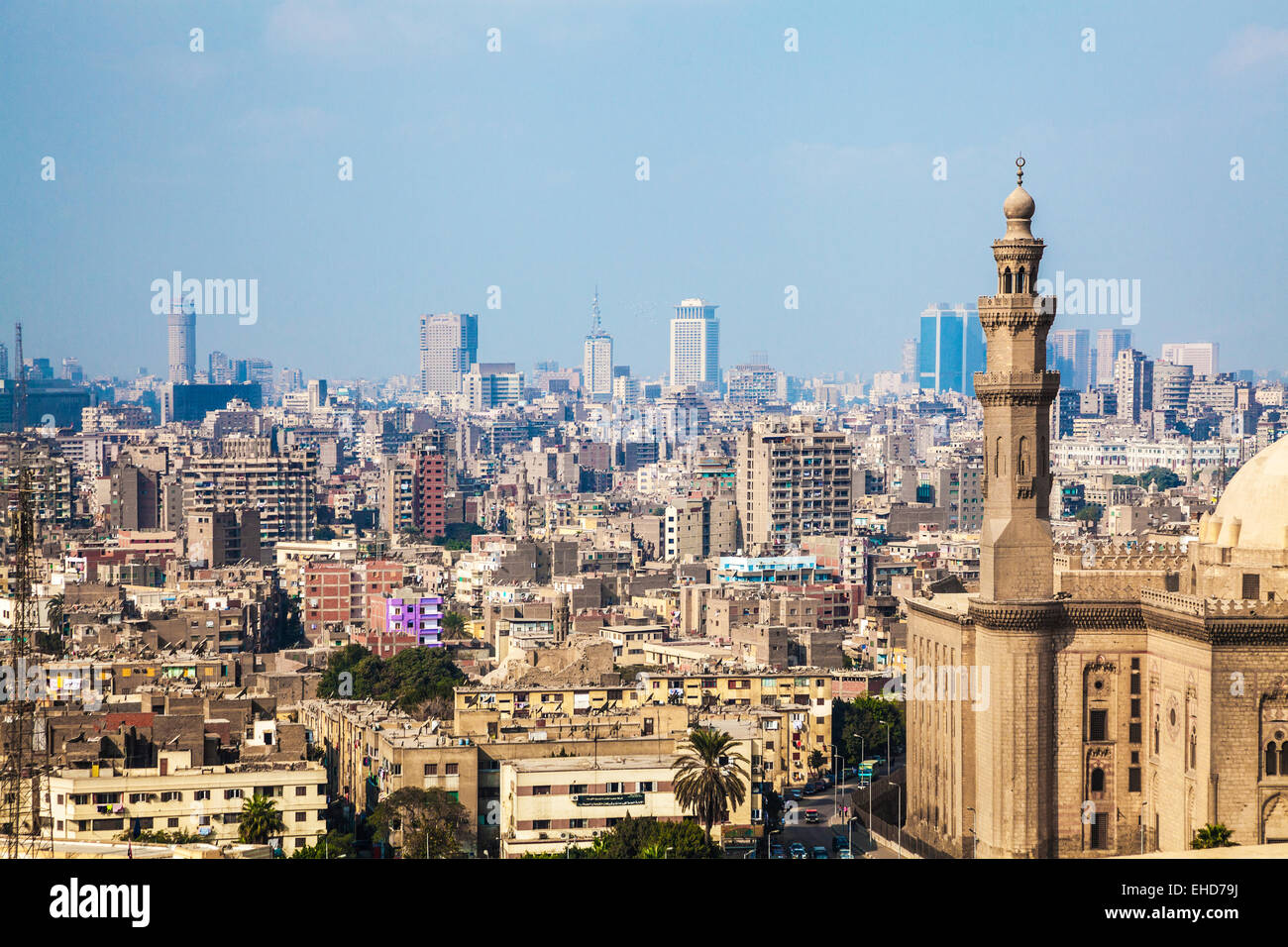 View over Cairo from the Citadel. - Stock Image