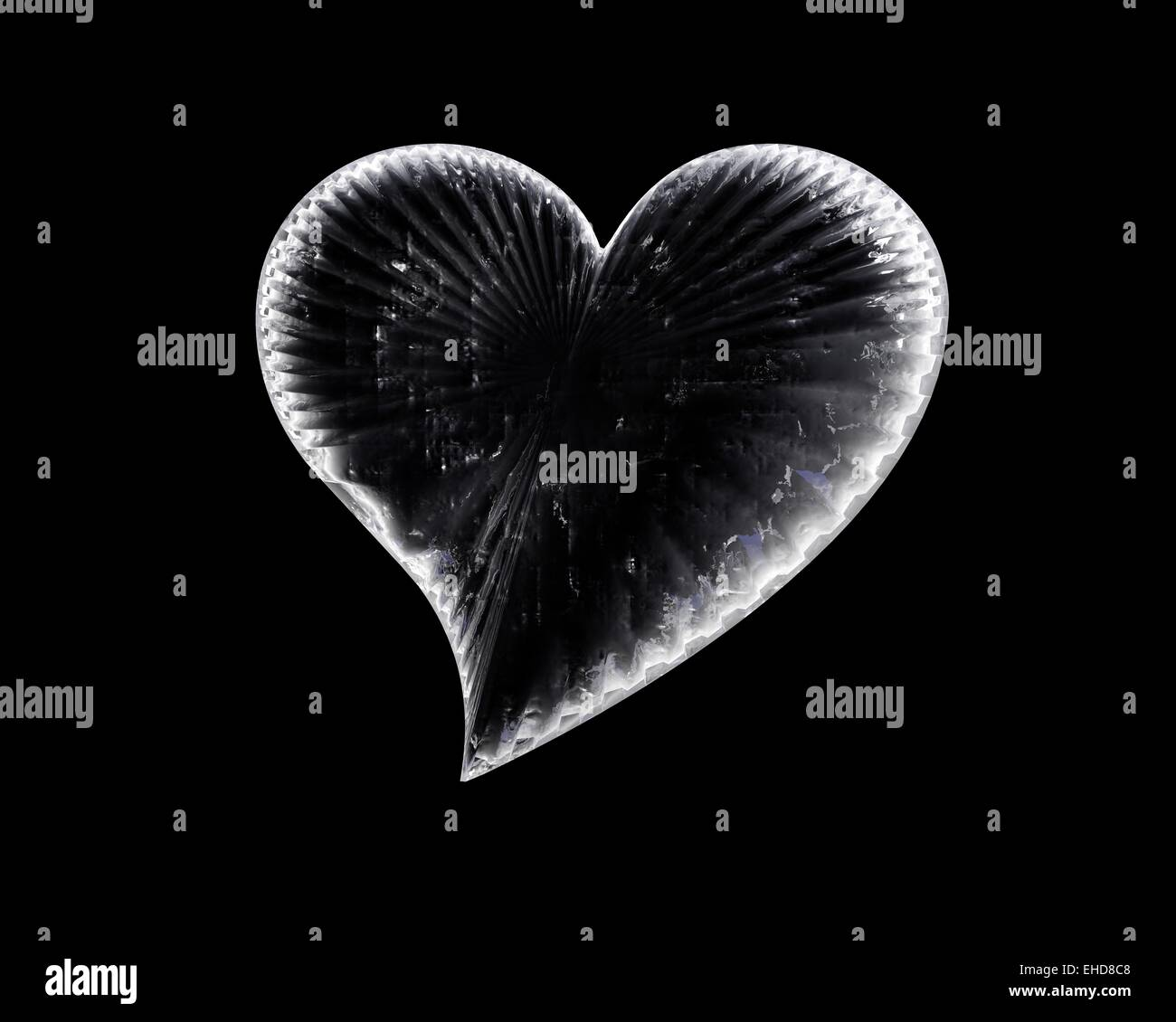 icy heart in the dark - Stock Image