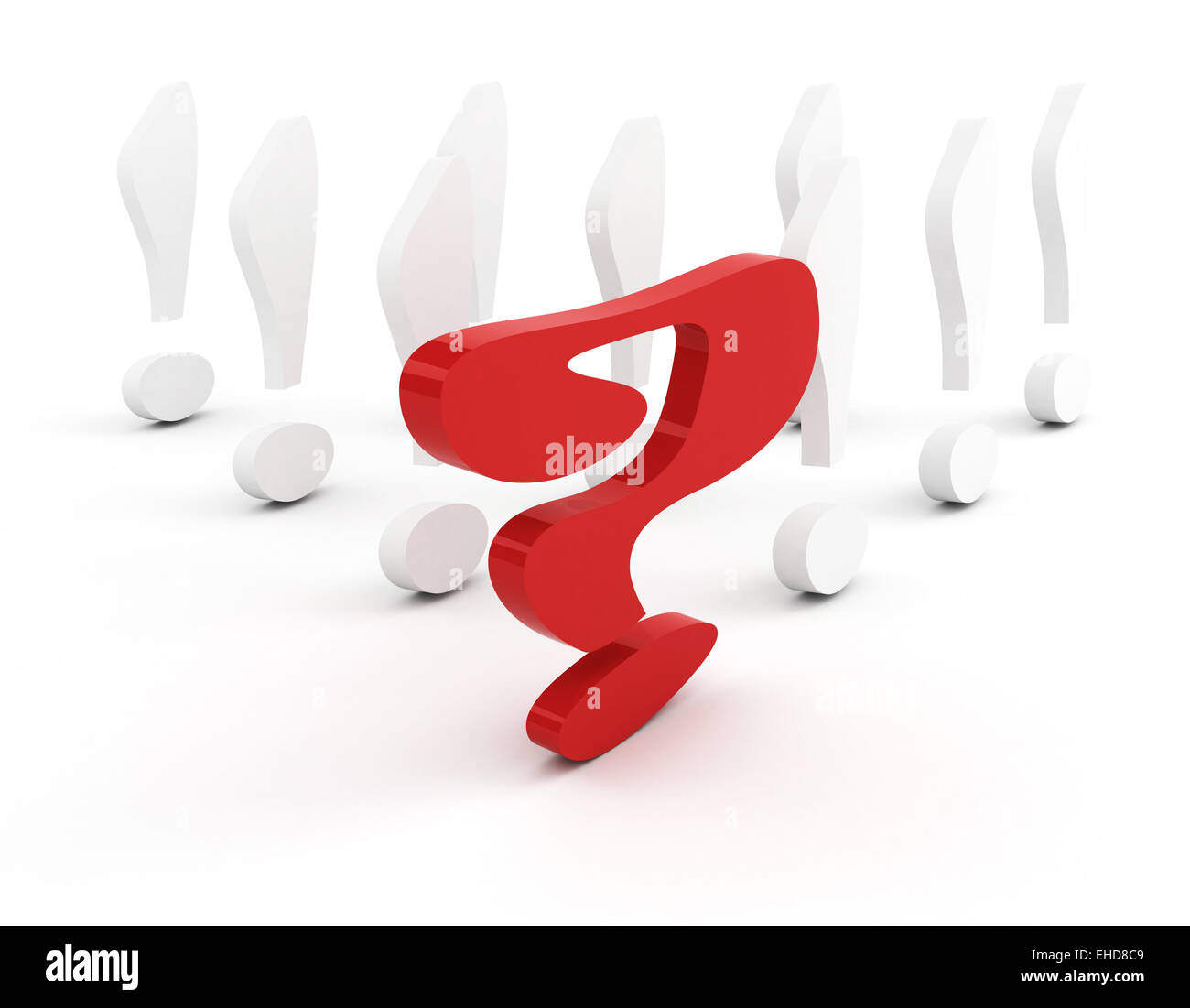 question-mark leadership concept - Stock Image