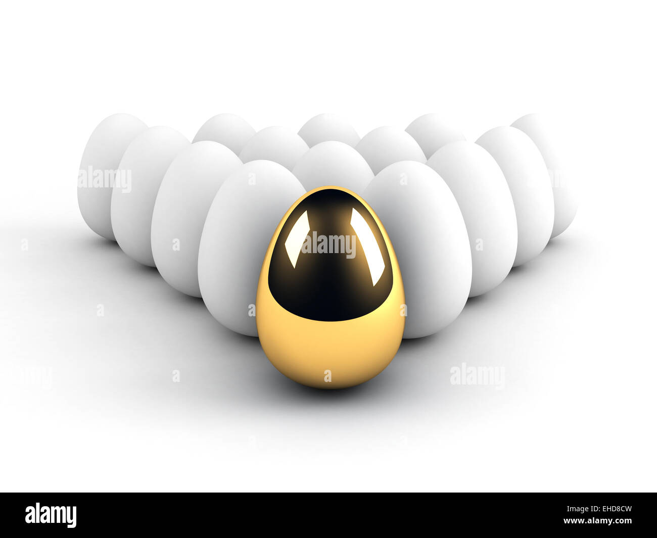 unique egg leadership concept - Stock Image