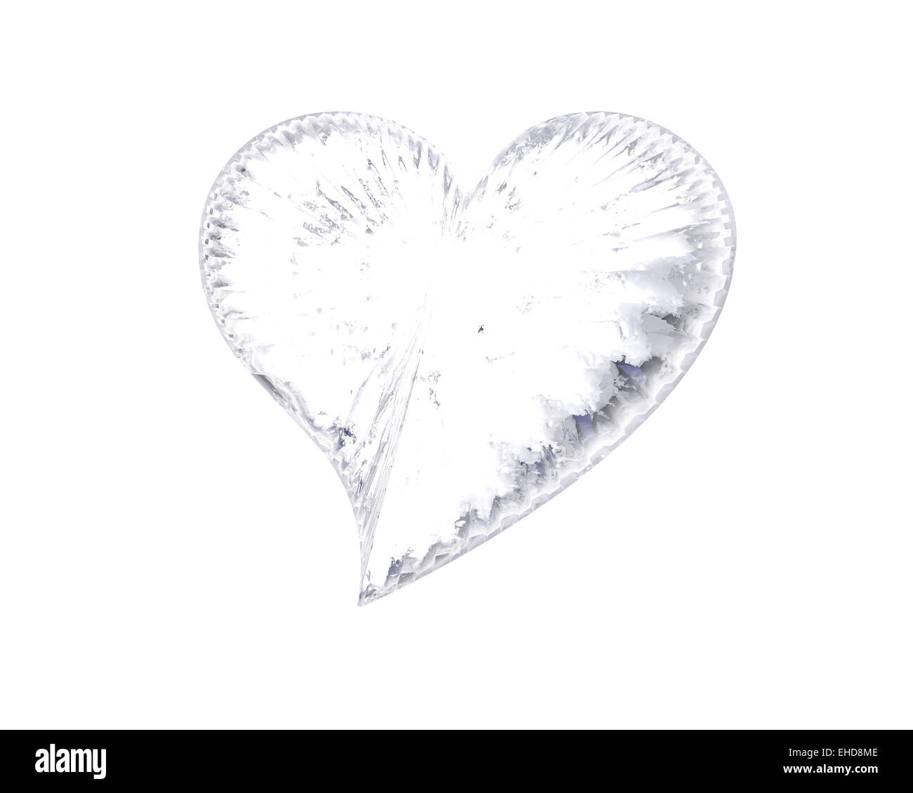 icy heart - Stock Image