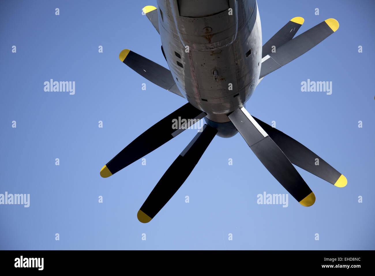 AN-22 turboprop motor Stock Photo