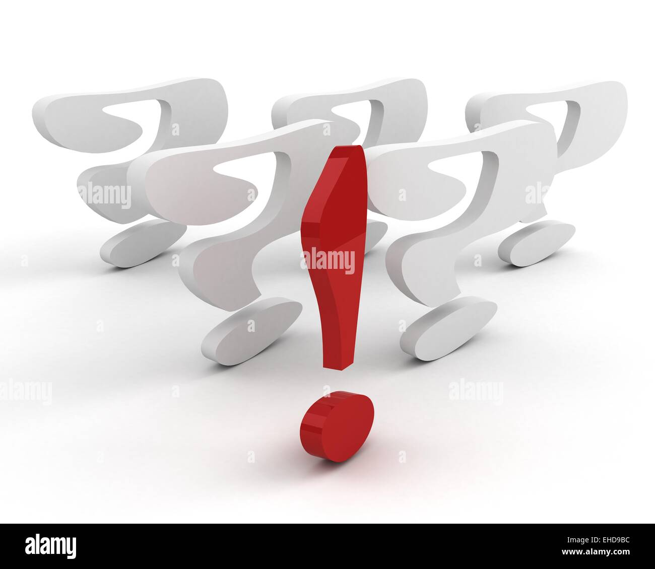 exclamation mark. leadership concept - Stock Image