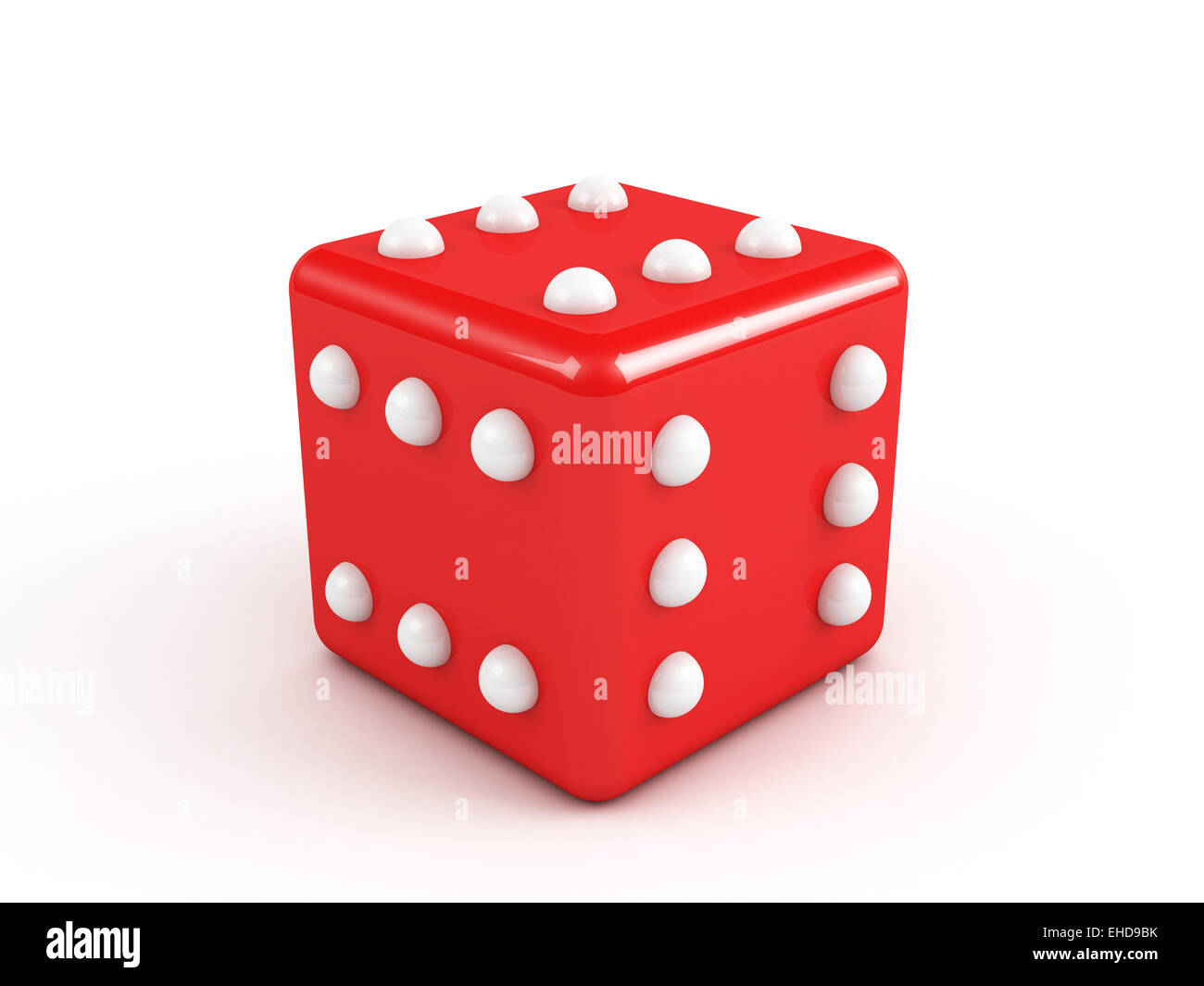 red winning dice - Stock Image