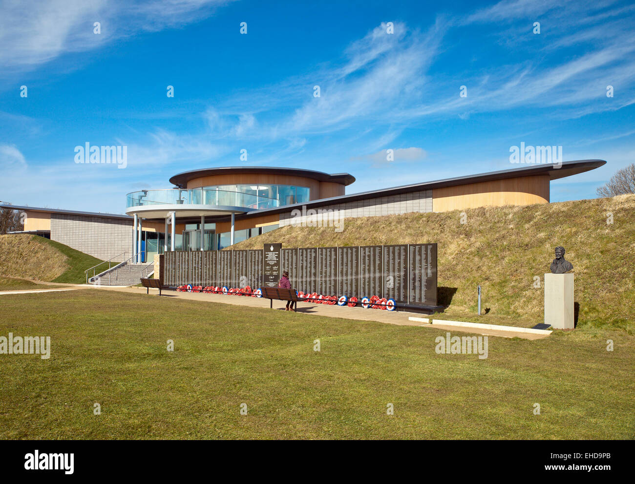 Battle of Britain National Memorial, and new visitor center The Wing . Capel-le-Ferne. - Stock Image