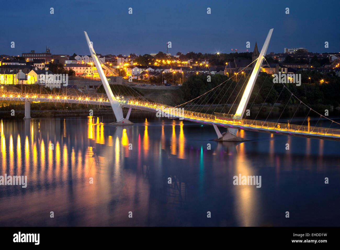 The Peace Bridge. Derry/Londonderry, Northern Ireland. - Stock Image