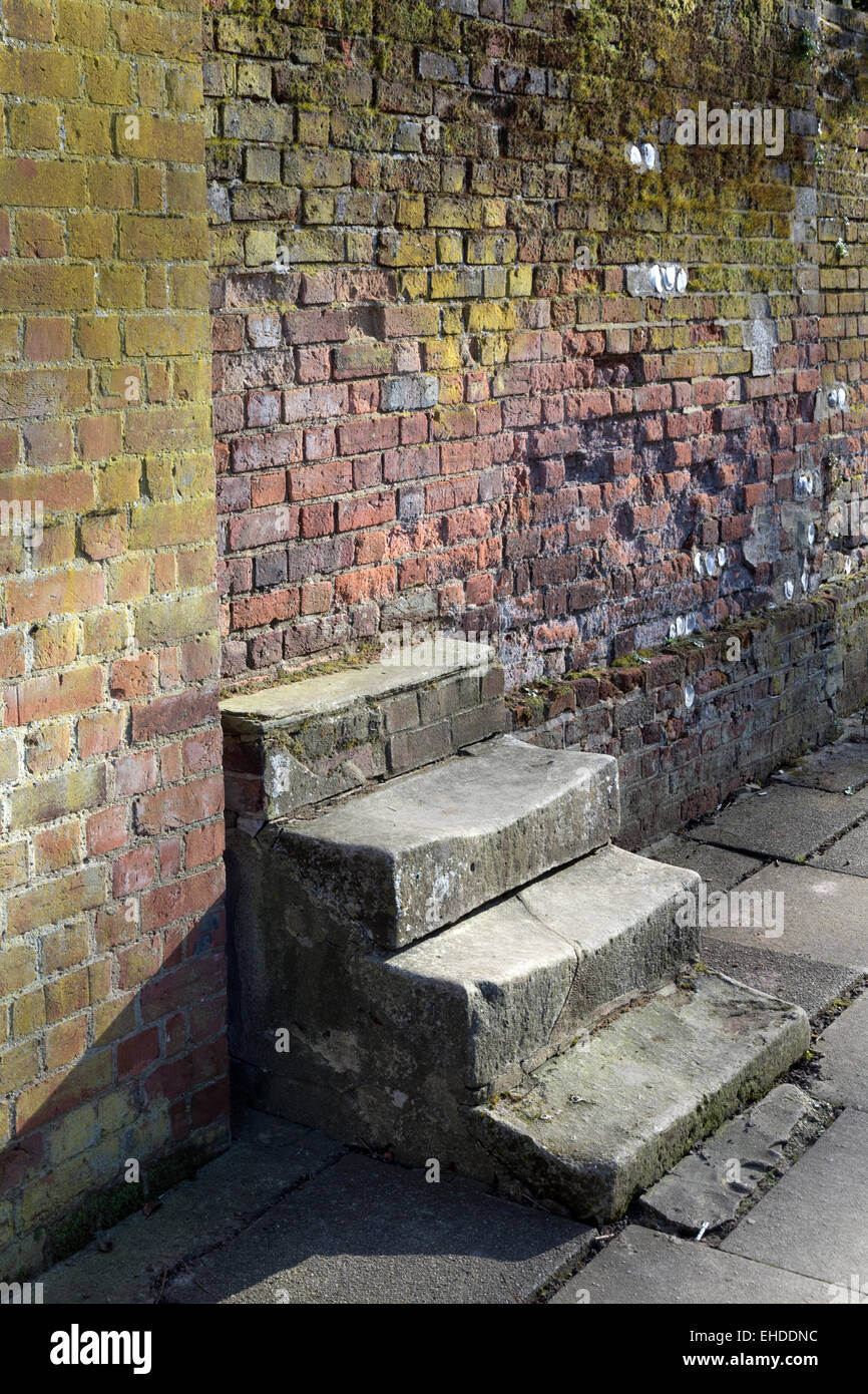 Stone steps leading nowhere - Stock Image
