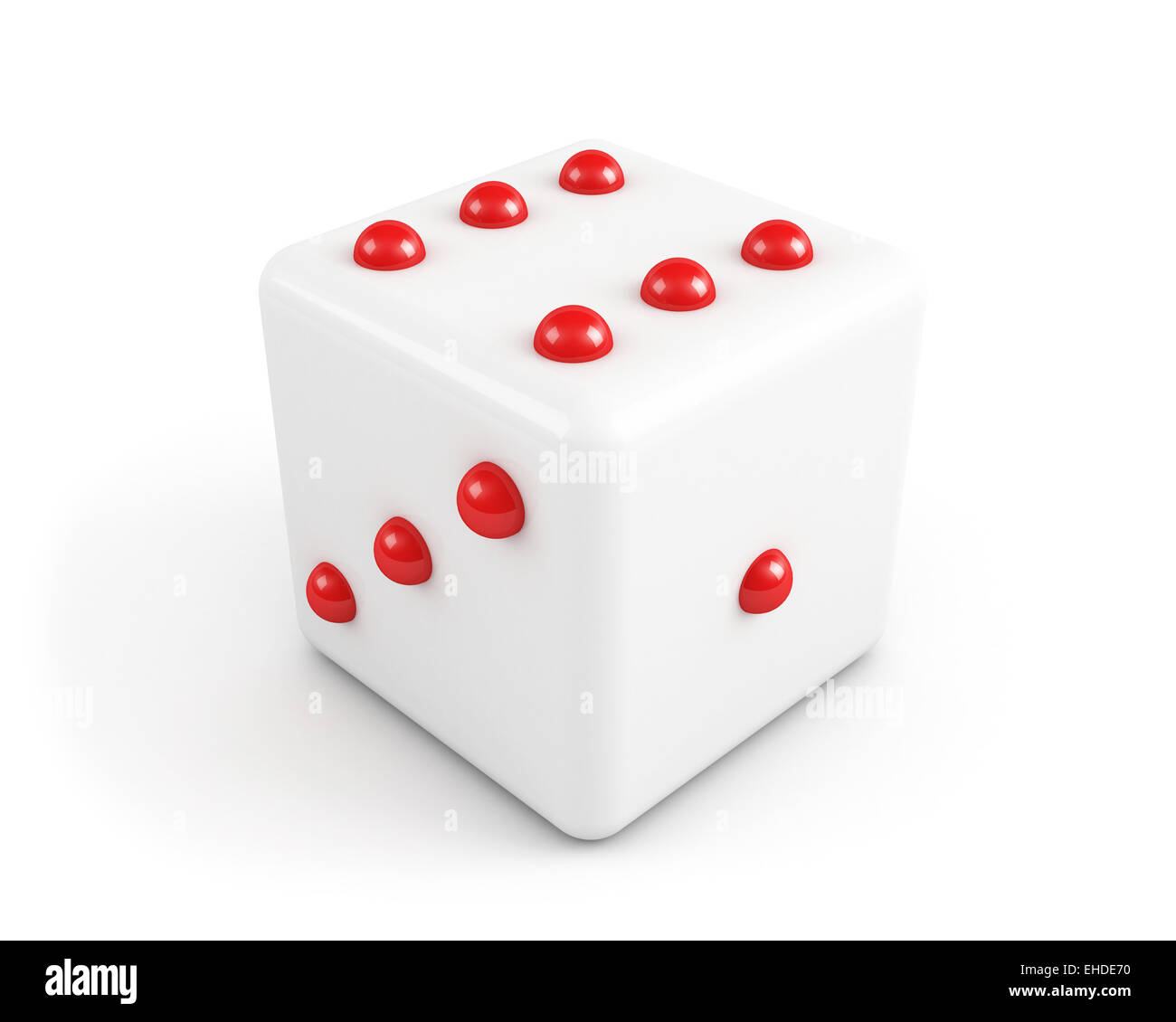 dice with red dots - Stock Image