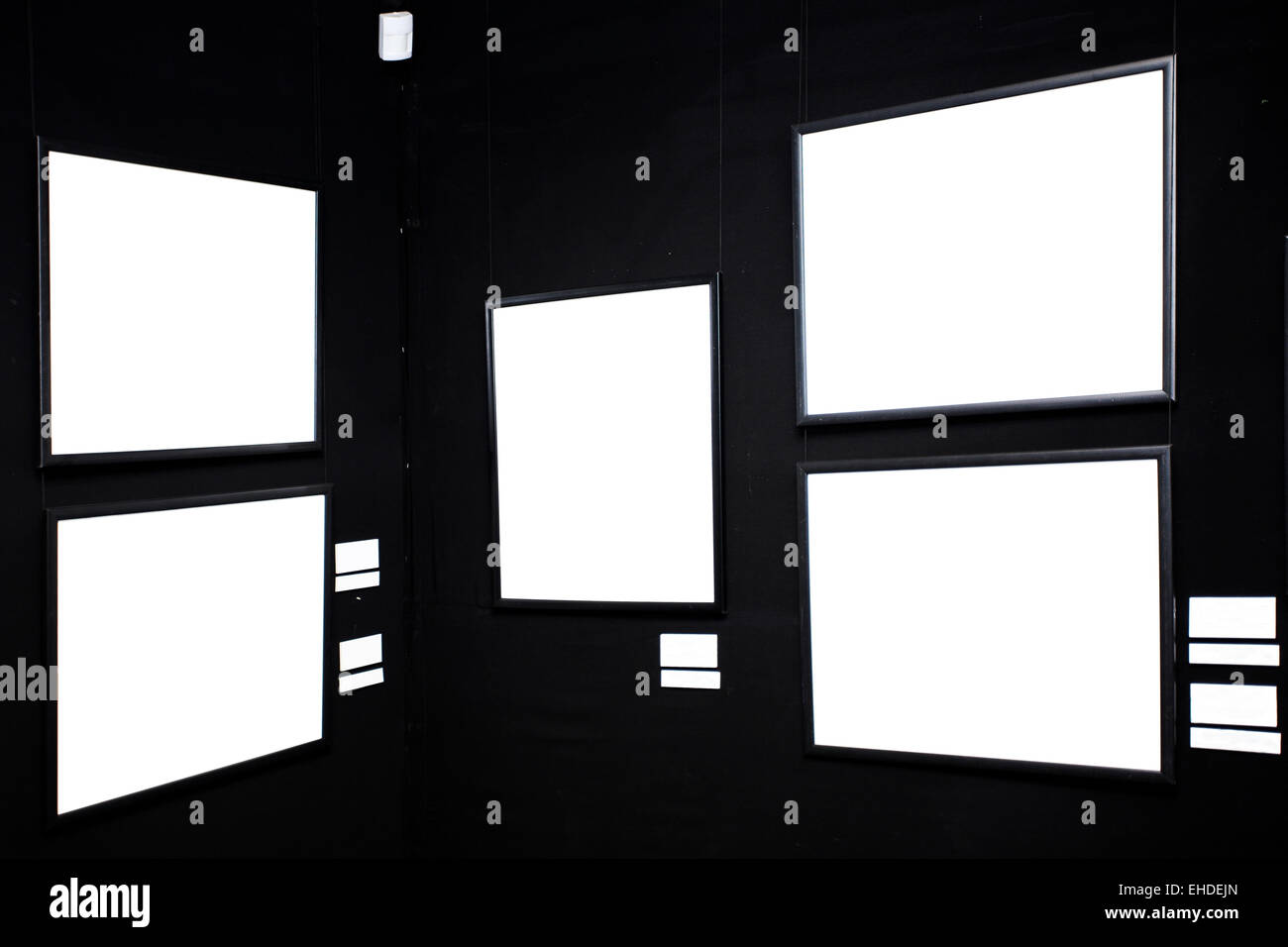 black wall in museum with empty frames Stock Photo: 79587501 - Alamy