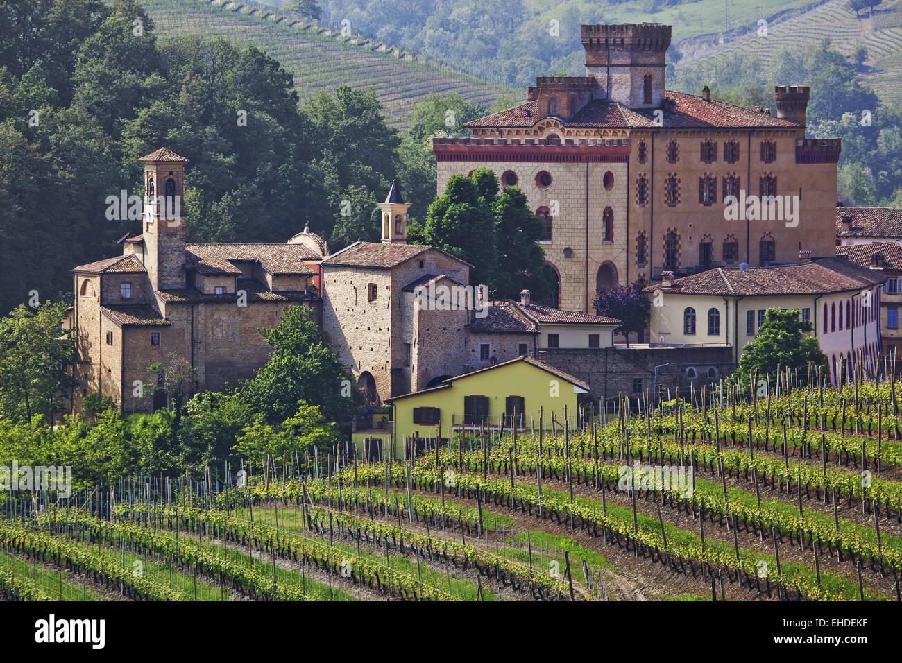 Barolo castle, Piedmont, Italy Stock Photo