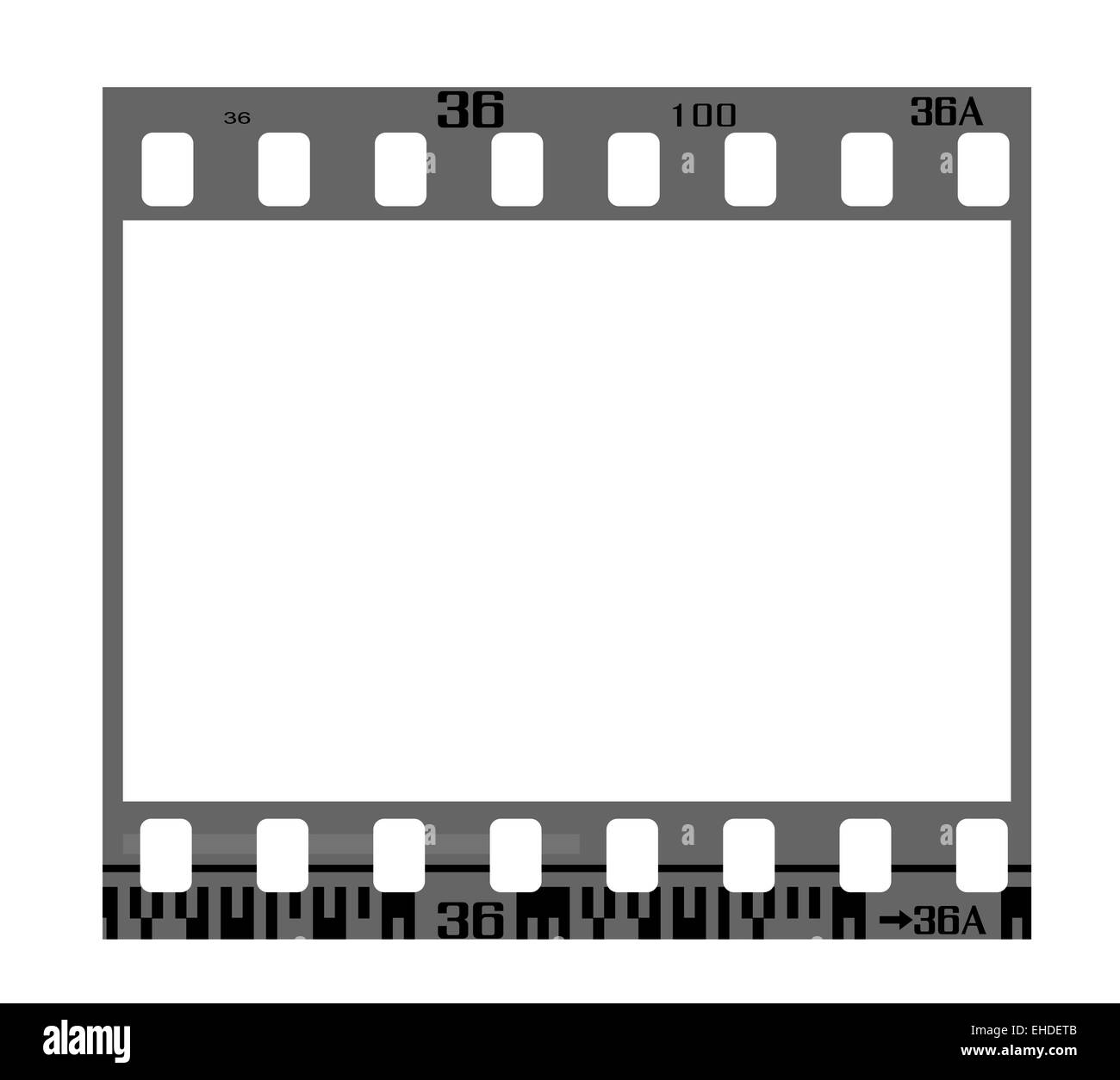 35mm negative frame Stock Photo